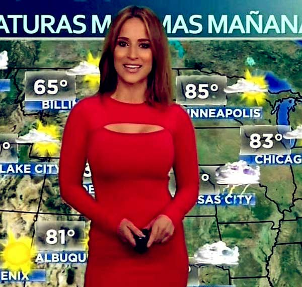 Image of Jackie Guerrido, a talented TV forecaster, and TV journalist.