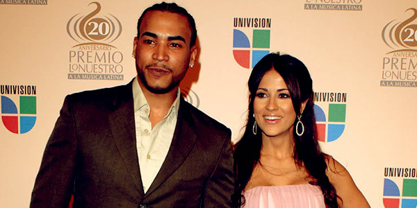 Image of Jackie Guerrdio with her ex-husband, Don Omar.