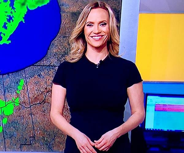 Image of Caption: American meteorologist, Megan Glaros