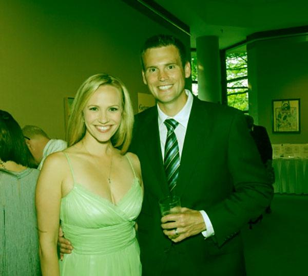 Image of Caption: Megan Glaros with her husband Lance Bruggeman