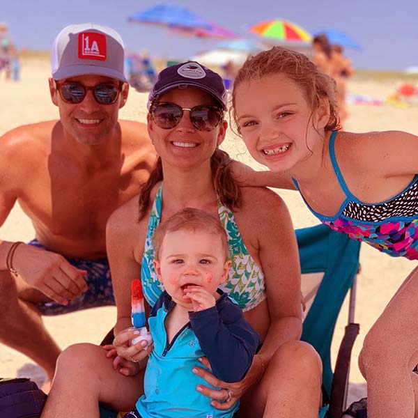 Image of Rob Maricano with his wife Eryn Marciano and kids Madelynn and Mason