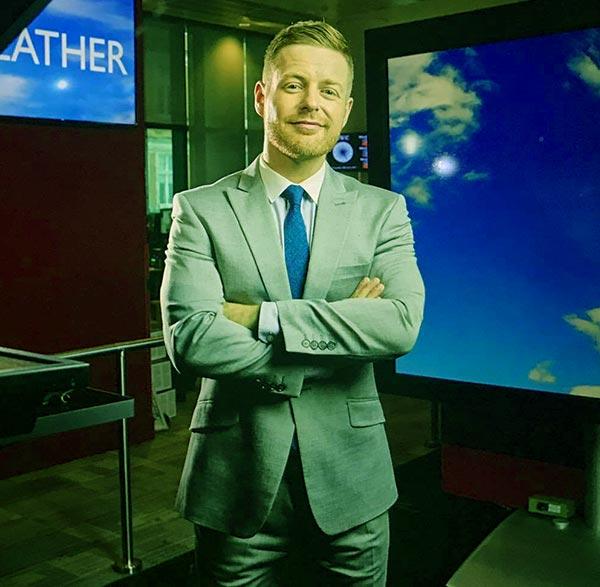 Image of Caption: Meteorologist, Tomasz Schafernaker