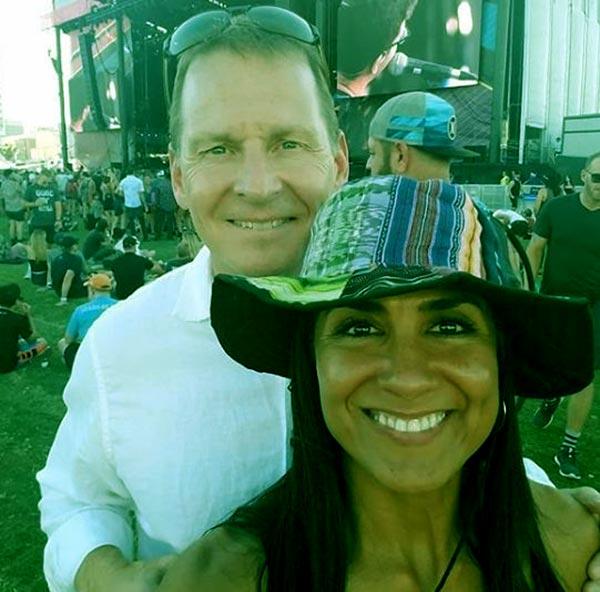 Image of Vera Jimenez with her husband Brian Herlihy.