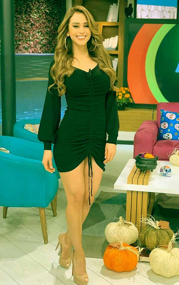 Image of Yanet was named as the world's sexiest weather girl