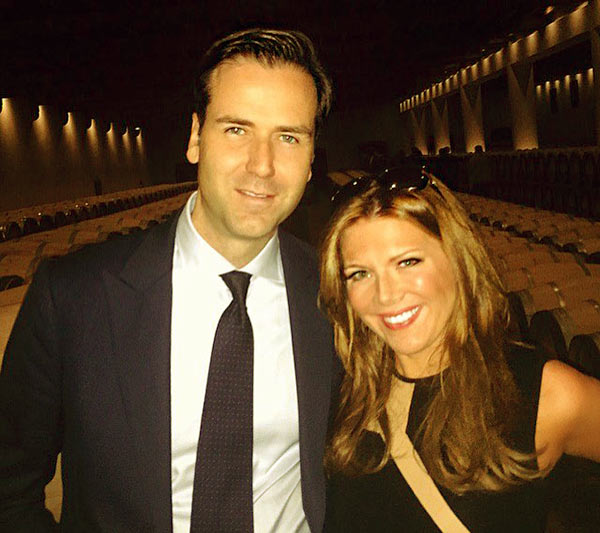 Image of James Anthony Ben with his wife at Chateau for a Rothschild event