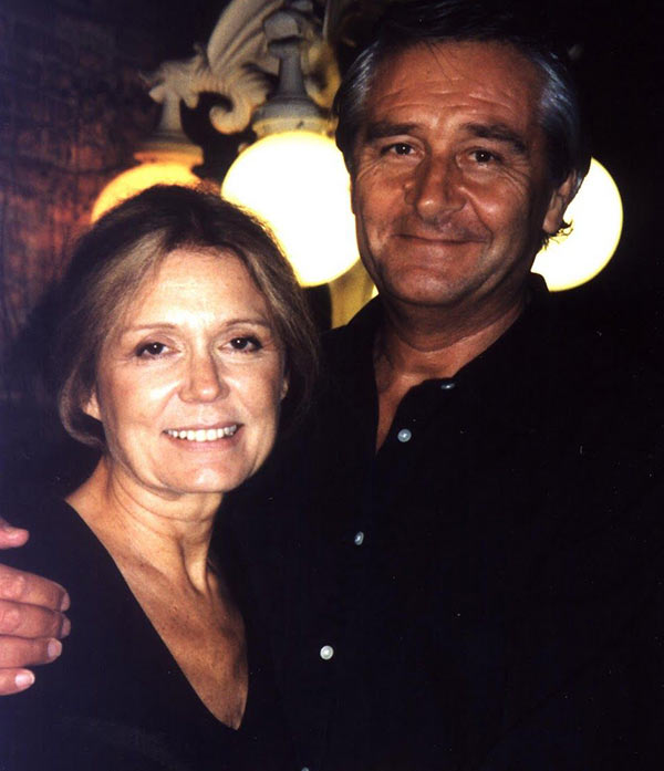 Image of David Bale with his third wife, Gloria Steinem