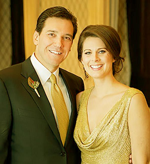 Image of David Rubulotta and Erin Burnett looked stunning at their wedding party that held at Atlantic Grill