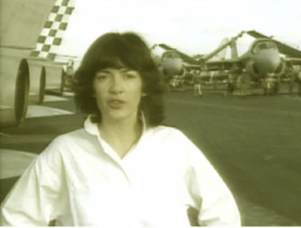 Image of Christina Amanpour covering the Persian Gulf War