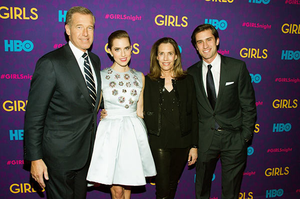 "Image of Jane with her husband and children at a party following the premiere of HBO's series ""Girls"" third season in January 2014"