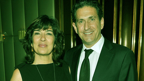 Image of James Rubin and Christiane Amanpour attend the after-party for the premiere of 'In the Land of Blood and Honey' at The Standard Hotel Rooftop in December 2011