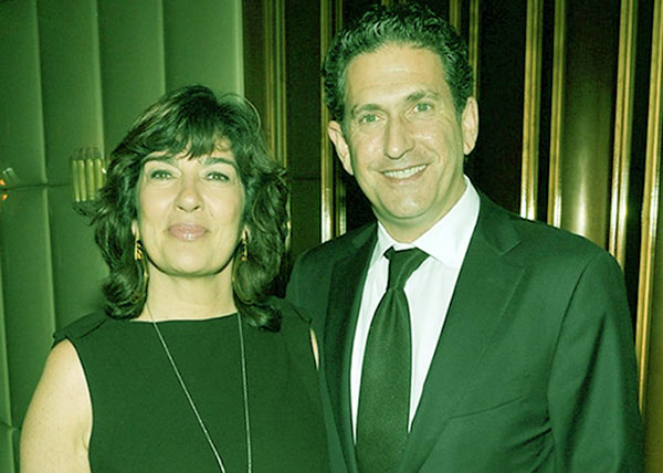 Image of Christina Amanpour with her husband