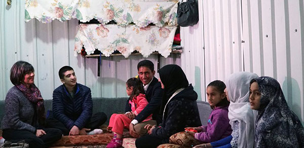 Image of Christina Amanpour and her son Darius in Jordan's Syrian Refugee Camps