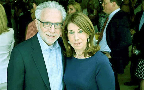 Image of Wolf Blitzer and Lynn Greenfield married for over 40 years