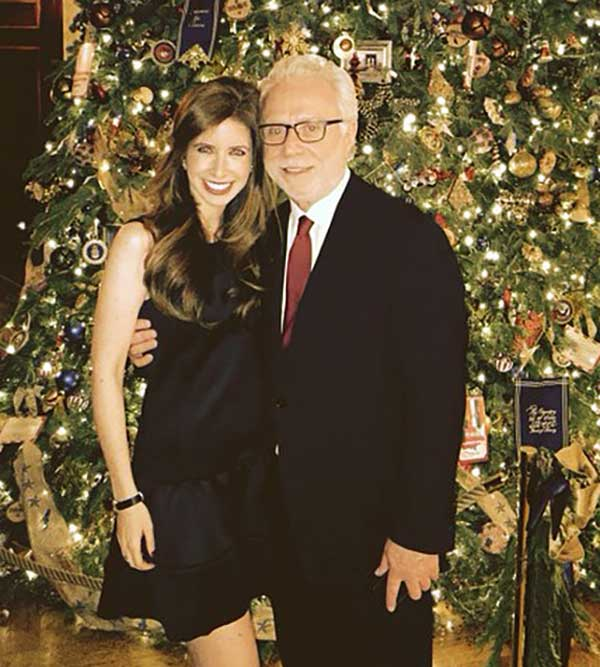 Image of Wolf and his daughter, Ilana attended the Christmas party in the White House